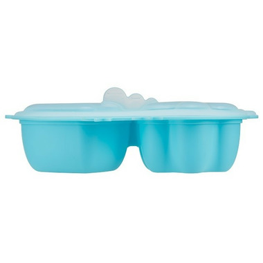 Innobaby Silicone Steamer Dish with Lid Blue Chicken