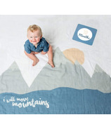 Lulujo Baby's First Year Milestone Blanket & Cards Set