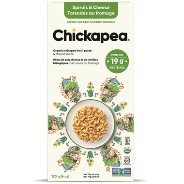 Chickapea Pasta Organic Lentil Shells & Cheese White Cheddar