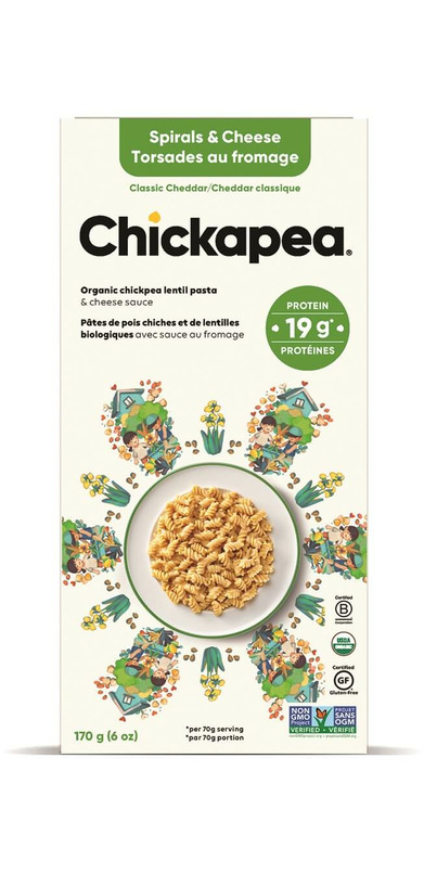 Buy Chickapea Pasta Organic Lentil Spirals Amp Cheese