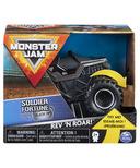 Monster Jam Official Soldier Fortune Rev 'N Roar Monster Truck 1:43 Scale