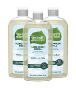 Seventh Generation Liquid Hand Wash Soap 3 Refills Free & Clear
