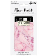 iDecoz Phone Pocket Blush Marble Faux Leather