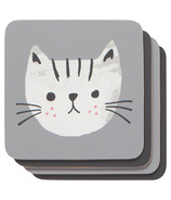 Now Designs Cork-Backed Coasters Cats Meow