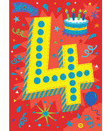 Peaceable Kingdom Age 4 Pattern Foil Card