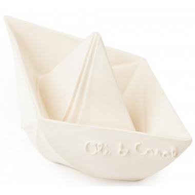 Oli and Carol Origami Boat White