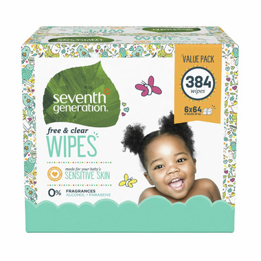 Seventh Generation Flip Top Dispenser Baby Wipes