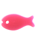 Innobaby Silicone Bath Scrub Light Pink and Fushsia Fish