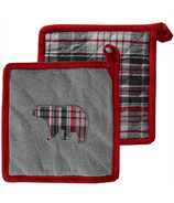 Domay Pot Holder Pair Plaid Bear