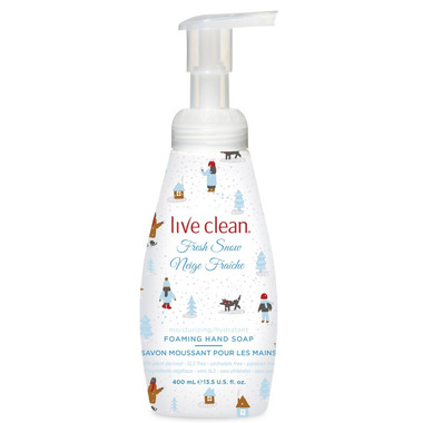 Live Clean Foaming Moisturizing Fresh Snow Hand Soap