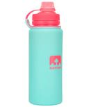 Nathan Sports Flexshot Silicone Water Bottle Blue Light