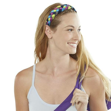 Gaiam 5-Braid Tri-colour Yoga Headband
