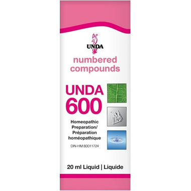 UNDA Numbered Compounds UNDA 600 Homeopathic Preparation