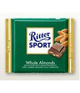 Ritter Sport Whole Almonds Chocolate Bar