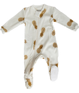 ZippyJamz Footed Organic Cotton Sleeper Sweet On The Inside
