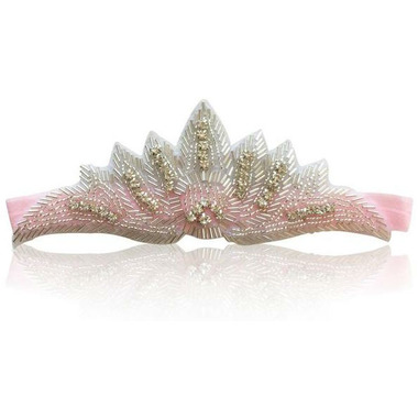 Olivia Rose Princess Crown Headband Ballet Pink