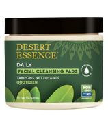 Tampons nettoyants naturels pour le visage à l'huile d'arbre à thé de Desert Essence