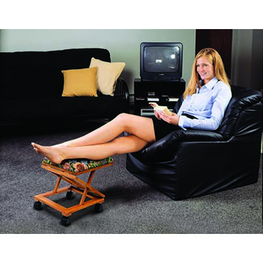 Bios Adjustable Fold-A-Way Tapestry Footrest