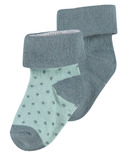 Noppies Dot Socks Dark Green 2 Pack