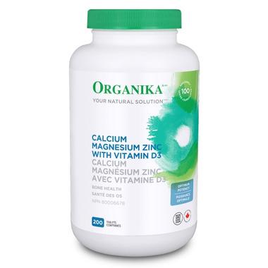 Organika Calcium Magnesium Zinc Vitamin D3