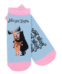 Little Blue House Women's Ankle Socks Nature Lover