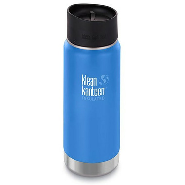 Klean Kanteen Insulated Wide Bottle with Cafe Cap 2.0 Pacific Sky