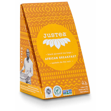 JusTea Black Pyramid Tea Bags African Breakfast