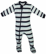 ZippyJamz Organic Cotton Footed Sleeper Sleeps and Ladders