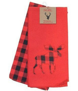 Domay Buffalo Check Moose Kitchen Towels 2 Pack