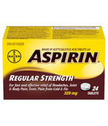 Aspirin 325mg Regular Strength Tablets Small Bottle