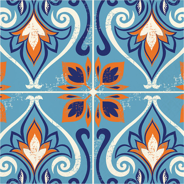 Elise Moroccan Tile 3 Ply Luncheon Napkin Mosaic
