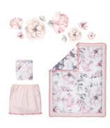 Lambs & Ivy Botanical Baby Watercolor Floral 4-Piece Crib Bedding Set