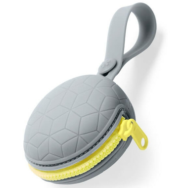 Skip Hop Grab & Go Silicone Pacifier Holder Grey