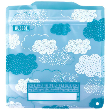Russbe Reusable Snack and Sandwich Bags Clouds
