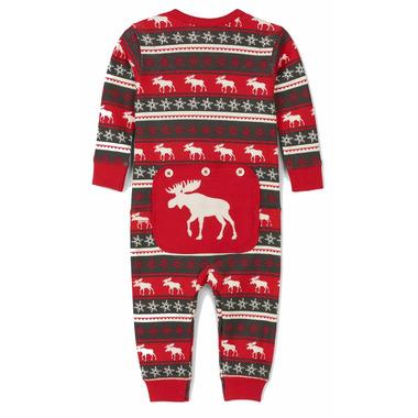 Hatley Fair Isle Moose Baby Union Suit