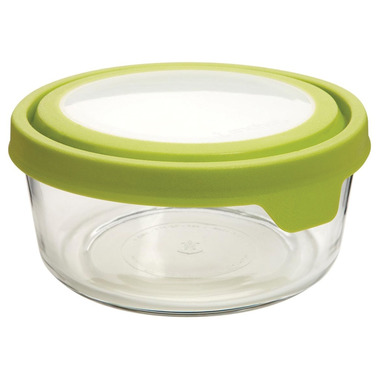 Anchor TrueSeal 2 Cup Round Storage Container with Green Lid