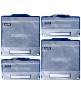 Russbe Reusable Snack/Sandwich Bags Metallic Hexagrid