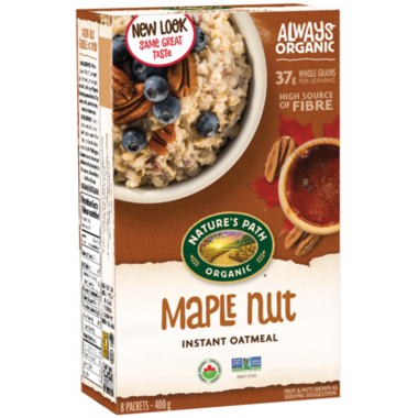 Nature\'s Path Organic Instant Oatmeal Maple Nut