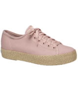 Keds Women's Triple Kick Canvas Jute Platform Sneaker Rose