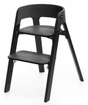 Stokke Steps High Chair Black Oak & Black Chair