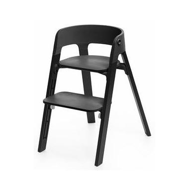 Stokke Steps High Chair Black Oak & Black Chair