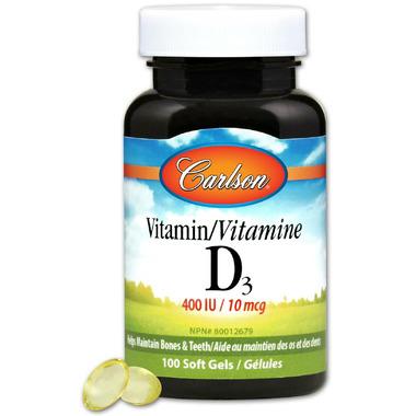 Carlson Vitamin D3 400 IU