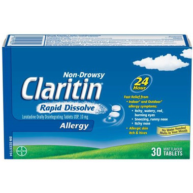 Claritin Non-Drowsy Allergy Rapid Dissolve Large Pack