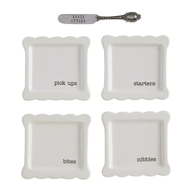Mud Pie Tidbit Plates Set