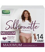 Depend Silhouette Incontinence Underwear for Women Max Absorbency Medium