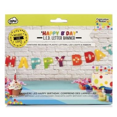 NPW L.E.D. Happy Birthday Letter Banner