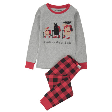 Little Blue House by Hatley Kids Pajamas A Walk on the Wild Side