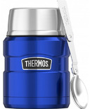 Thermos Stainless Steel Food Jar With Folding Spoon Royal Blue