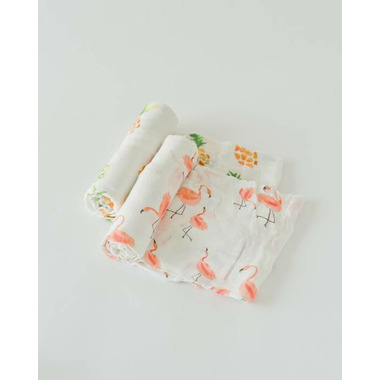 Little Unicorn Deluxe Muslin Swaddle Set Pink Ladies