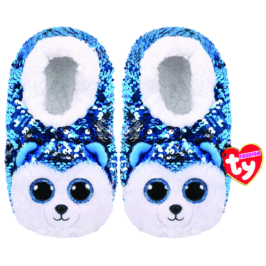 Ty Fashion Slush the Husky Sequin Slipper Socks